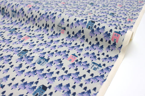 Japanese Fabric Cotton + Steel Chill Out - Nature Walk - purple - 50cm
