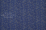 Japanese Fabric Cotton + Steel Chill Out - Pow Pow - navy metallic - fat quarter