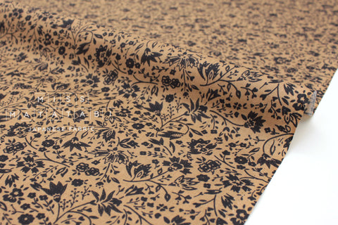 Japanese Fabric Stencil cotton lawn - earth - 50cm
