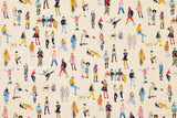 Japanese Fabric People canvas - 50cm