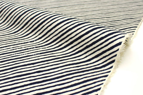 Japanese Fabric Diagonal Stripes Dobby - dark navy - 50cm