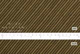 Japanese Fabric Diagonal Stripes Dobby - olive green - 50cm