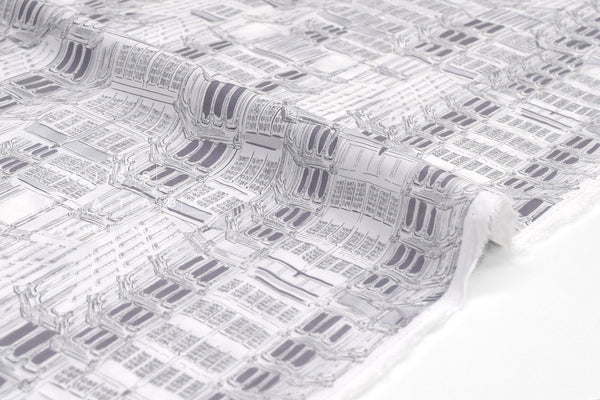 Japanese Fabric Architecture cotton lawn - grey - 50cm