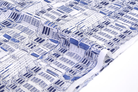 Japanese Fabric Architecture cotton lawn - blue - 50cm