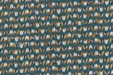 Japanese Fabric Bluebell cotton lawn - forest green - 50cm