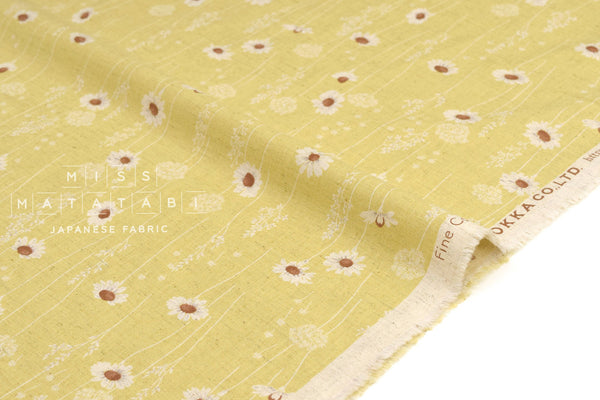 Japanese Fabric Daisies - yellow - 50cm