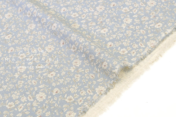 Japanese Fabric Wild Meadow - light blue - 50cm