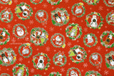 Japanese Fabric Penguin Christmas - red - 50cm