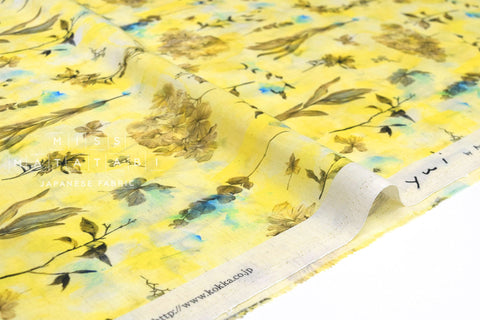 Japanese Fabric Kokka Yui botanical : mellow - 50cm