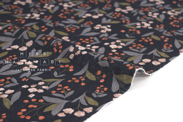 Japanese Fabric Leaves and Berries - D - 50cm