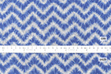 Japanese Fabric Kokka indigo style chevron shibori print - light blue - 50cm