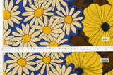 Japanese Fabric Kokka Poppy Daisy Border - B - 50cm