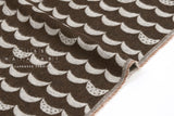Japanese Fabric Kokka Waves Jacquard - chocolate - 50cm