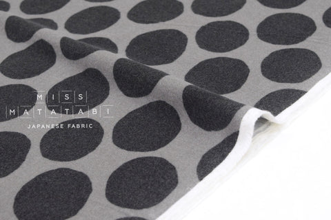 Japanese Fabric Flannel Dots - grey - 50cm
