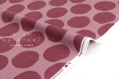 Japanese Fabric Flannel Dots - pink - 50cm