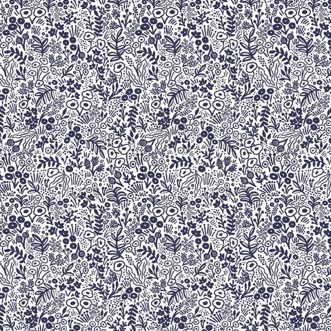 Cotton + Steel Rifle Paper Co. Basics - Tapestry Lace - navy - fat quarter
