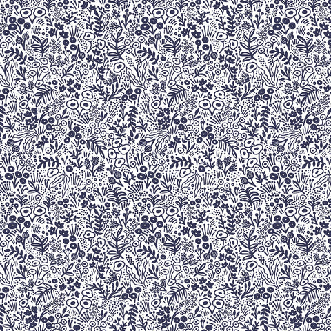 Cotton + Steel Rifle Paper Co. Basics - Tapestry Lace - navy - 50cm