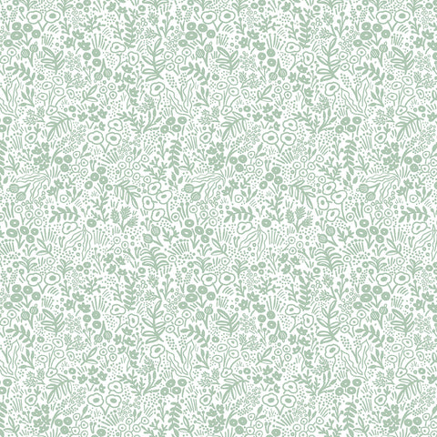 Cotton + Steel Rifle Paper Co. Basics - Tapestry Lace - sage - fat quarter