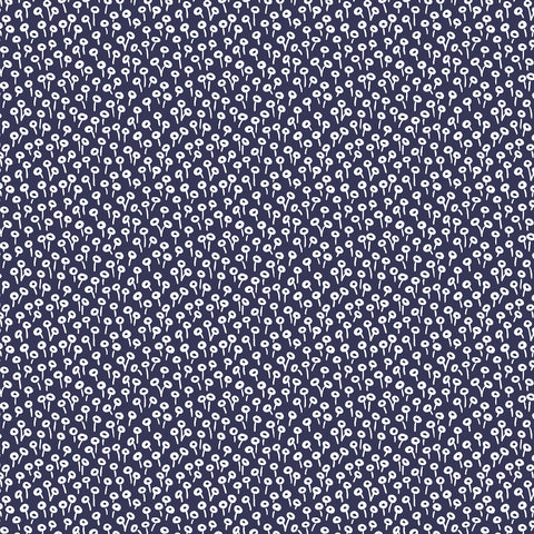 Cotton + Steel Rifle Paper Co. Basics - Tapestry Dot - navy - fat quarter