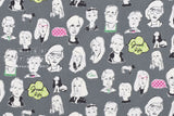 Japanese Fabric People - grey - 50cm