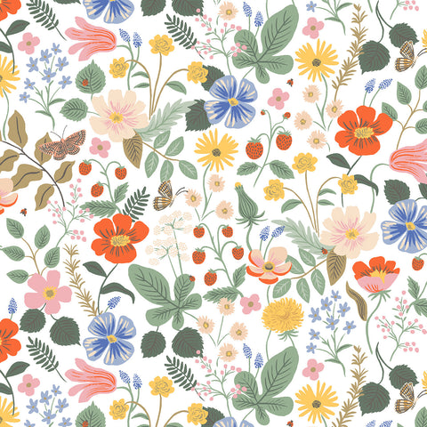 Cotton + Steel Rifle Paper Co. Strawberry Fields - Strawberry Fields - ivory - 50cm