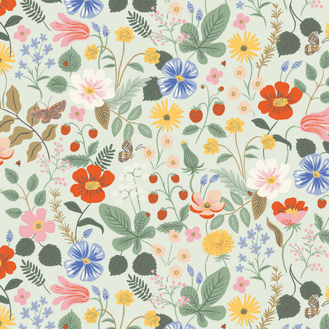 Cotton + Steel Rifle Paper Co. Strawberry Fields - Strawberry Fields - mint - 50cm