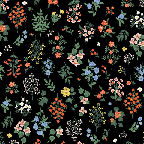 Cotton + Steel Rifle Paper Co. Strawberry Fields - Hawthorne - black - 50cm