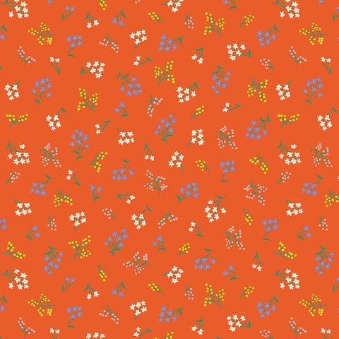 Cotton + Steel Rifle Paper Co. Strawberry Fields - Petites Fleurs - red - fat quarter