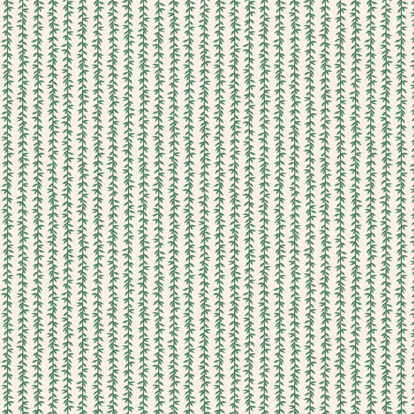 Cotton + Steel Rifle Paper Co. Strawberry Fields - Laurel - green, cream - fat quarter