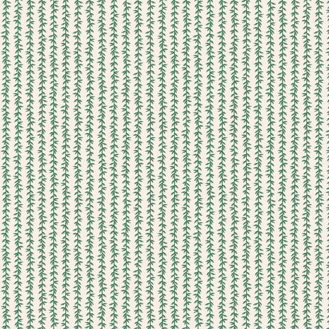 Cotton + Steel Rifle Paper Co. Strawberry Fields - Laurel - green, cream - 50cm