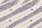 Japanese Fabric Flight - cream, navy - 50cm