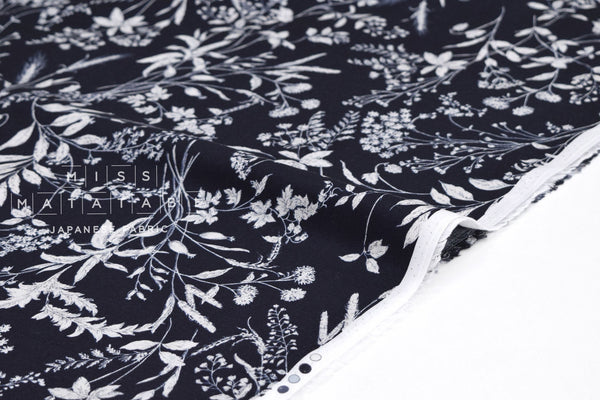 Japanese Fabric On the Heath - dark navy blue - 50cm
