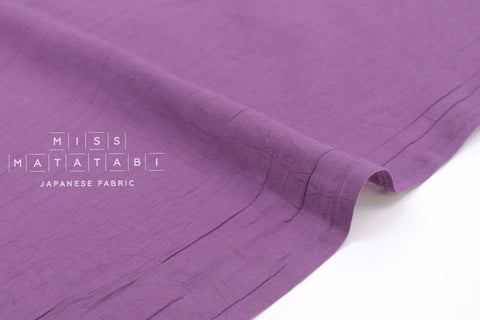 Japanese Fabric Washed Voile Solids - violet - 50cm