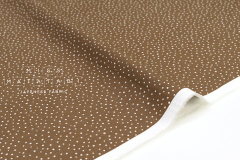 Japanese Fabric Soft Snow Dots - cocoa brown - 50cm
