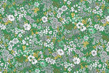 Japanese Fabric Monotone Floral cotton lawn - green - 50cm
