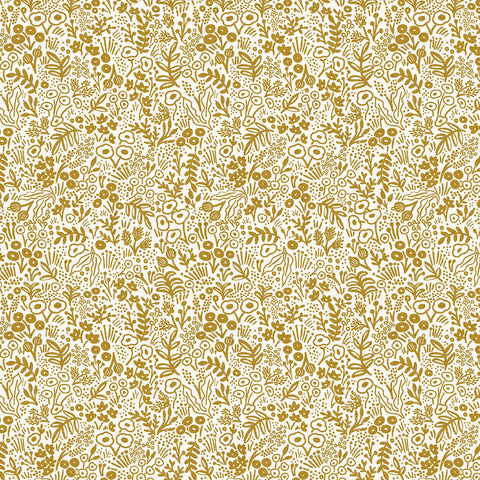 Cotton + Steel Rifle Paper Co. Basics - Tapestry Lace - gold metallic - 50cm