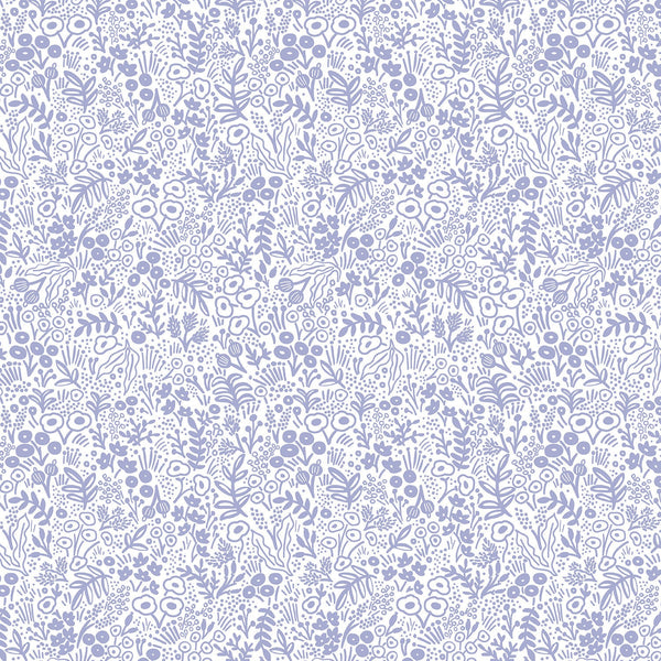 Cotton + Steel Rifle Paper Co. Basics - Tapestry Lace - periwinkle - 50cm