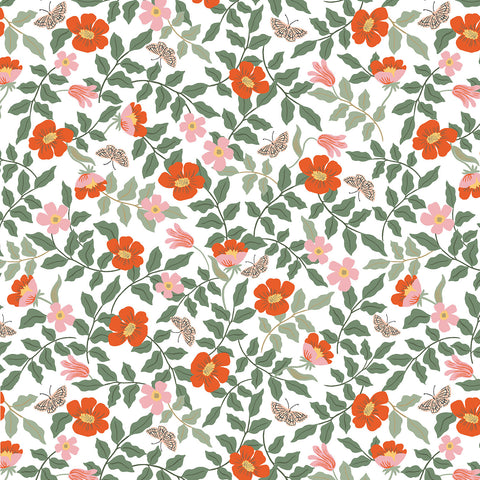 Cotton + Steel Rifle Paper Co. Strawberry Fields - Primrose - ivory - fat quarter