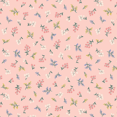 Cotton + Steel Rifle Paper Co. Strawberry Fields - Petites Fleurs - blush - fat quarter
