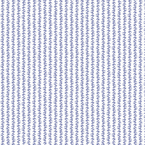 Cotton + Steel Rifle Paper Co. Strawberry Fields - Laurel - periwinkle - 50cm