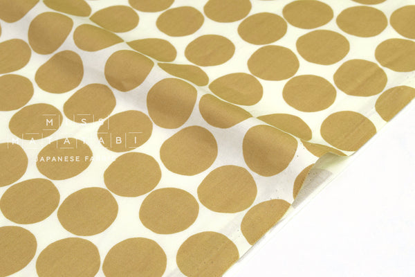 Japanese Fabric Large Dots - latte - 50cm