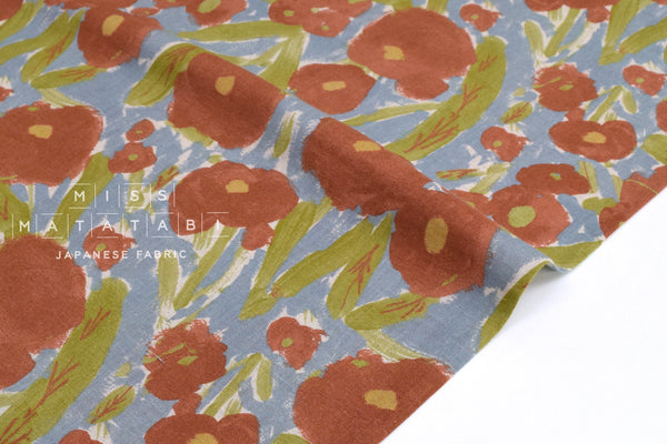 Japanese Fabric Blooming - terracotta - 50cm