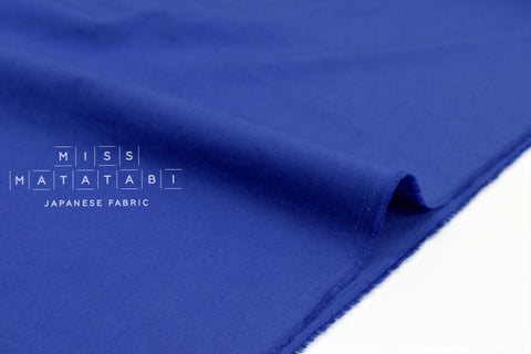 Japanese Fabric Soft Quilting Cotton Solid Colour - royal blue - 50cm