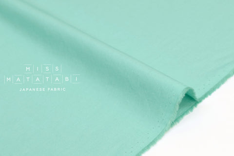 Japanese Fabric Soft Quilting Cotton Solid Colour - mint - 50cm