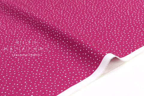 Japanese Fabric Soft Snow Dots - fuchsia - 50cm