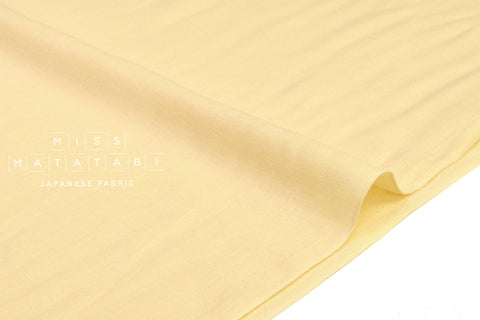 Japanese Fabric - Kobayashi solid double gauze - pale butter yellow - 50cm