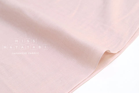 Japanese Fabric - Kobayashi solid double gauze - pale light pink - 50cm