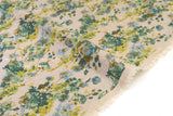 Japanese Fabric Mono Floral - green - 50cm
