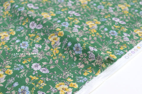 Japanese Fabric Summer Green Lawn - green - 50cm