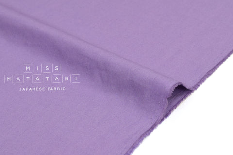 Japanese Fabric Soft Quilting Cotton Solid Colour - violet - 50cm